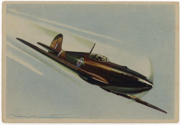 A French artist's impression of the legendary fighter of World War Two