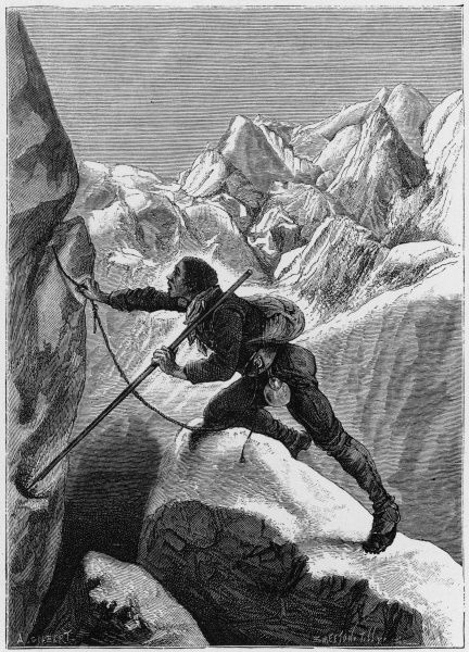 MONT BLANC CONQUERED Alpine guide Jacques Belmont, after several unsuccessful earlier attempts, is the first to reach the summit
