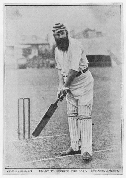 W G Grace, ready to receive the ball
