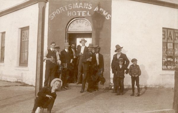 The Sportsmans Arms Hotel in Rosaville, South Australia. It was demolished in 1920