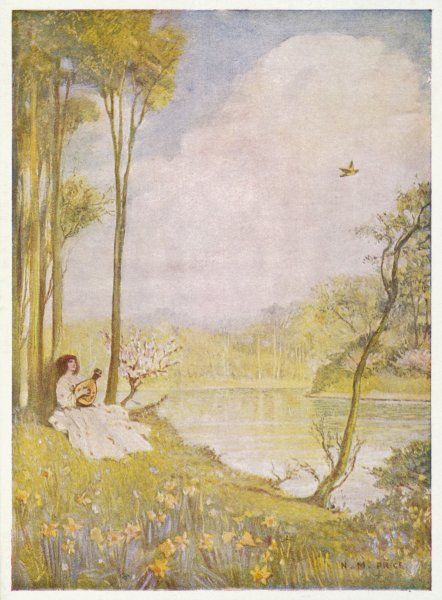 The Fruhlingslied (Spring Song) from his Lieder Ohne Worte (Songs without words) - an artist's impression. Date
