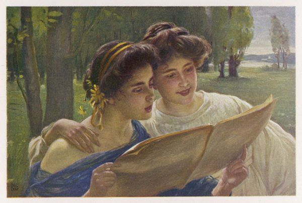 Two girls sing the Fruhlingslied (Spring Song) from his Lieder Ohne Worte (Songs without words) even though it is wordless - maybe someone has added some