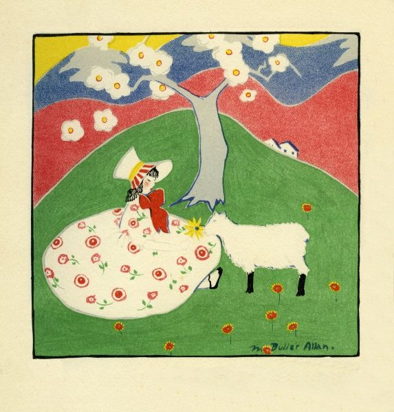 In Springtime. Illustration by Marguerite Buller Allan. Date: 1917