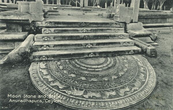 Sri Lanka - Moon Stone and Steps - Anuradhapura