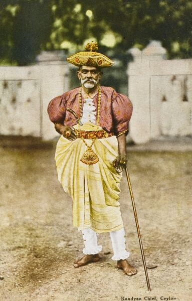 A Sri Lankan Kandyan chief in his finery
