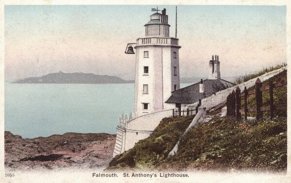St Anthony's Lighthouse - Falmouth, Cornwall Date: 1913