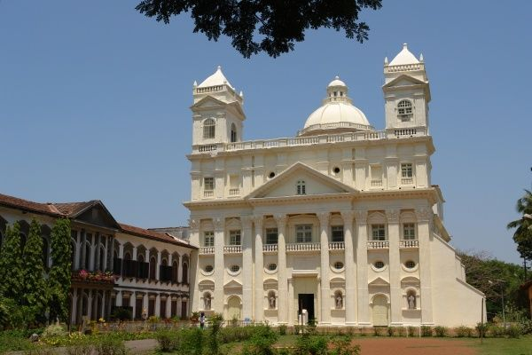 St Cajetan Church, Old Goa, India. Originally known as the Church of Our Lady of Divine Providence, it was completed in 1661