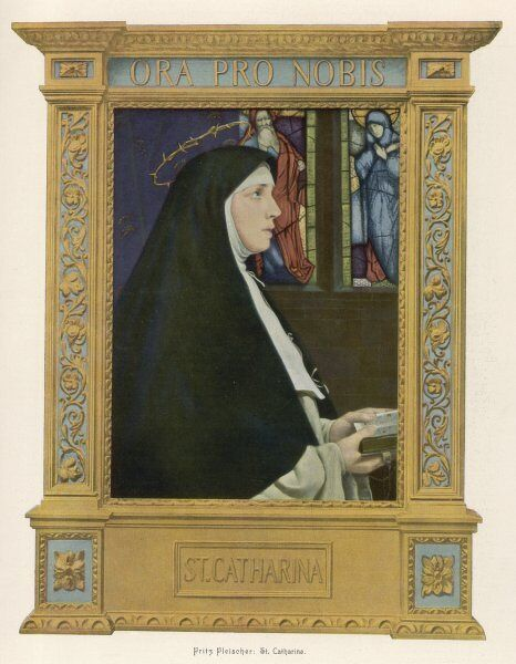 ST CATHERINE OF SIENA Italian visionary and miracle worker