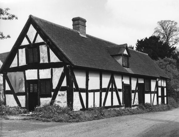 St. Crispin's Chapel, a fine stone and timbered building at Colwall, Herefordshire, England. Date: Medieval