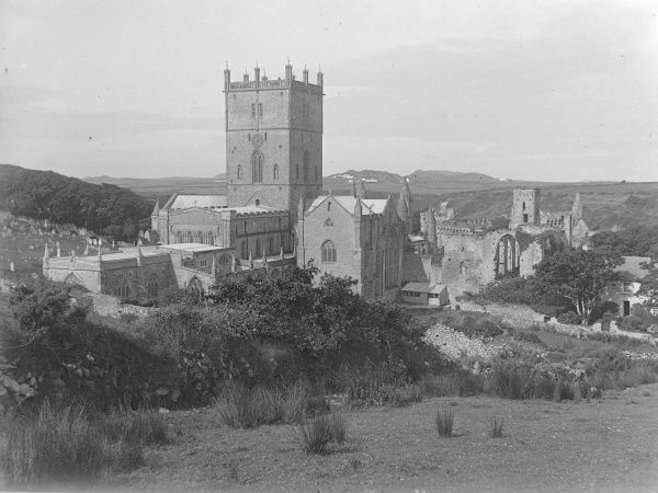 View of St David's Cathedral from the east, Pembrokeshire, Dyfed, South Wales