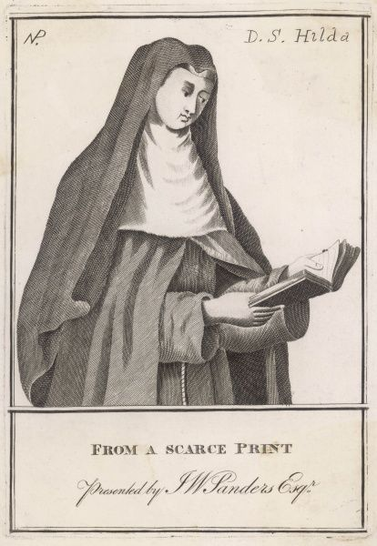 SAINT HILDA OF WHITBY A member of the Deiran royal house, she was among its first converts to Christianity. She became a celebrated abbess at Hartlepool and then Whitby
