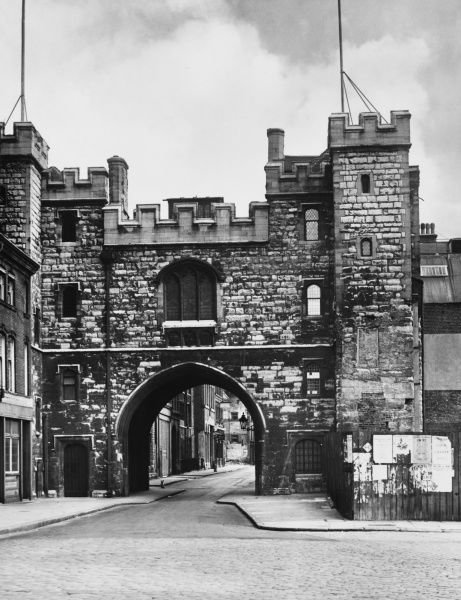 St. John's Gate, Clerkenwell, London. A survival of the ancient Clerkenwell Priory, which was at one time the monastery of the Knights of the Order of St. John