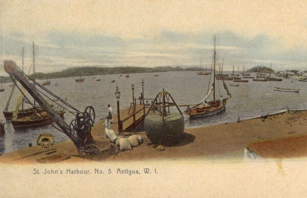 St. John's Harbour, Antigua, West Indies Date: circa 1907