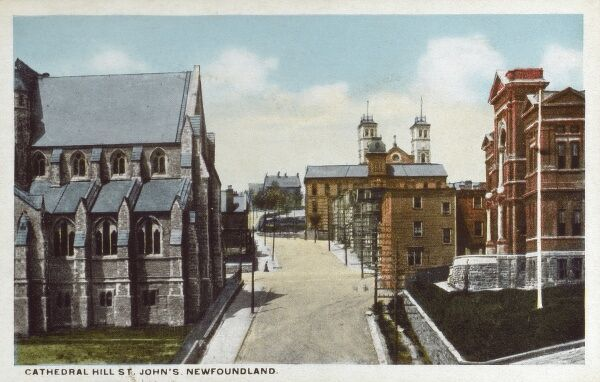 St. Johns - Newfoundland - Cathedral Hill Date: circa 1910s