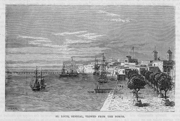 View of the port of St. Louis