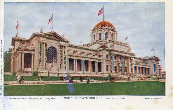 St louis worlds fair st louis missouri state building for Cost to build a house in louisiana
