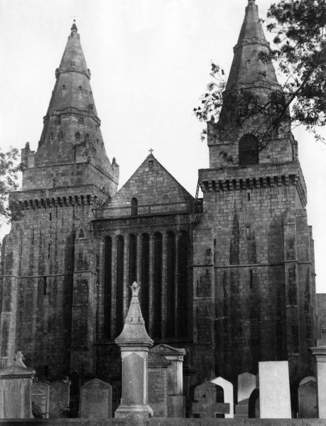 St. Machar's Cathedral. Old Aberdeen, Scotland. These, the two Western towers, were completed by Bishop Henry de Lichtoun between 1423 and 1440. Date: 14th - 16th century