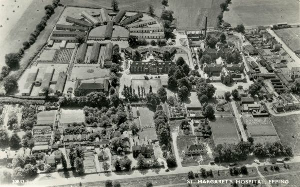 Aerial view of St Margaret's Hospital, Epping, Essex