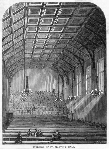 Interior of the hall with hardly anybody in it