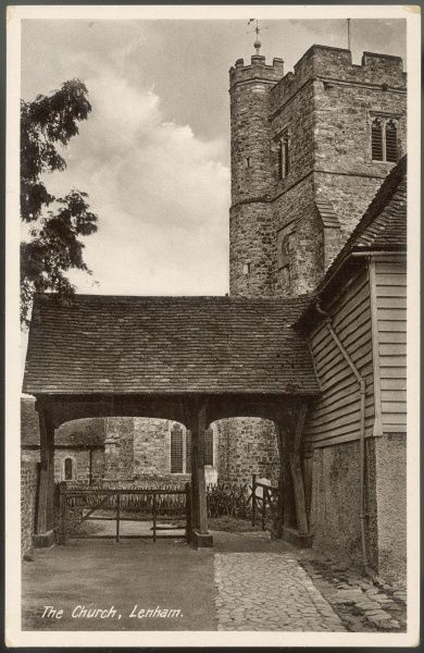 ST MARY'S CHURCH, LENHAM, KENT The lychgate - shelter to many newlyweds embarking on a new life, as well as those returning for the final time