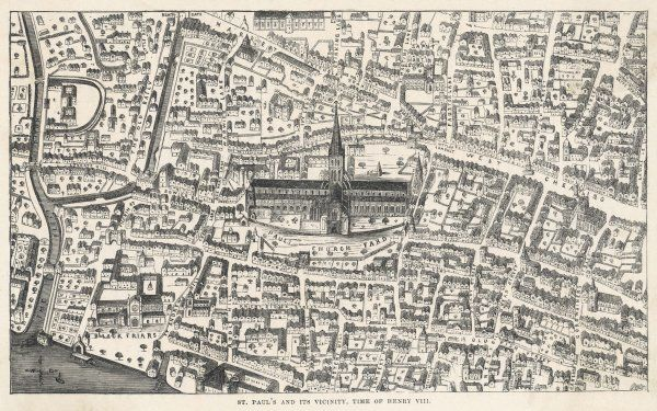 Old St Paul's and its vicinity, time of Henry VIII