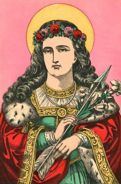 SAINT PHILOMENA Though much venerated by the Cure d'Ars and others, this Roman martyr never lived - her supposed existence arose from an archeological mistake Date: NEVER