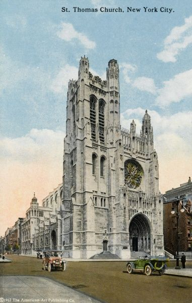 St. Thomas Protestant Episcopal Church, New York, America on 5th Avenue and 53rd street