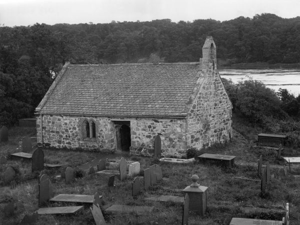 St. Tysilio's Church, in the Menai Straits. This tiny single storey building is believed to be the place where Christianity was first preached on Anglesey, Wales. Date: founded 6th century