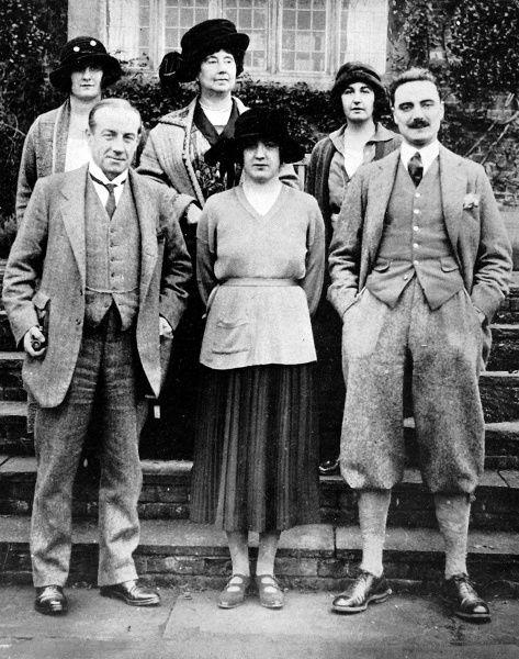 Photograph of Stanley Baldwin (1867-1947), Conservative Politician and Prime Minister (bottom left), and his family (clockwise from top left) Hon. Mrs. Howard, Mrs. Stanley Baldwin, Mrs. Bambridge, Captain Gordon Munro and Mrs. Gordon Munro
