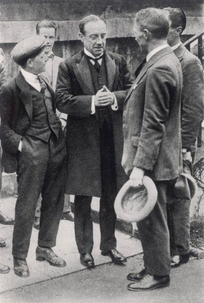 STANLEY BALDWIN British politician, fraternising with members of the general public who may be induced to give him their votes