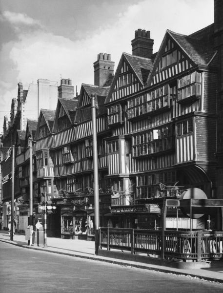The half-timbered structure of Staple Inn in Holborn, one of the few surviving Tudor buildings in central London. Dating from 1581, it was formerly an Inn of Chancery
