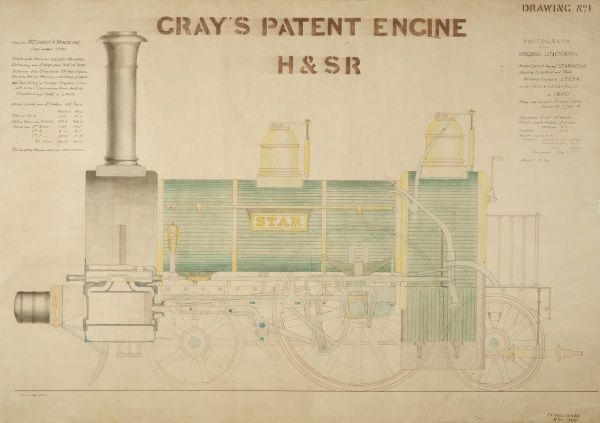 Star locomotive, Gray's patent engine, side elevation Date: 1897