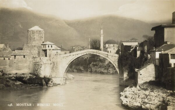 Stari Most (English translation: 'The Old Bridge') - a 16th century bridge in the city of Mostar, Bosnia Herzegovina, that crosses the River Neretva and connects two parts of the city