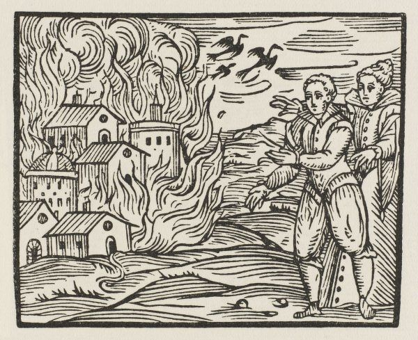 Witches start a fire, lacking any social conscience