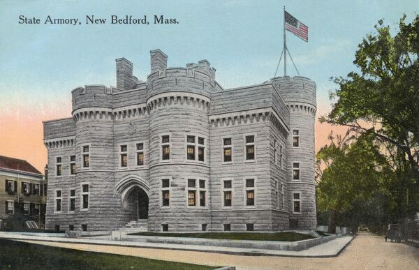State Armoury, New Bedford, Massachusetts, USA Date: circa 1908
