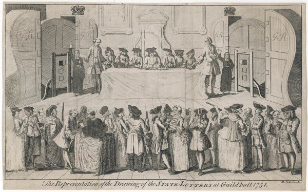ENGLAND Drawing of the State Lottery at the Guildhall, London