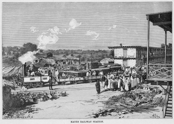 MALI (at this time, French West Africa) : the station at Kayes