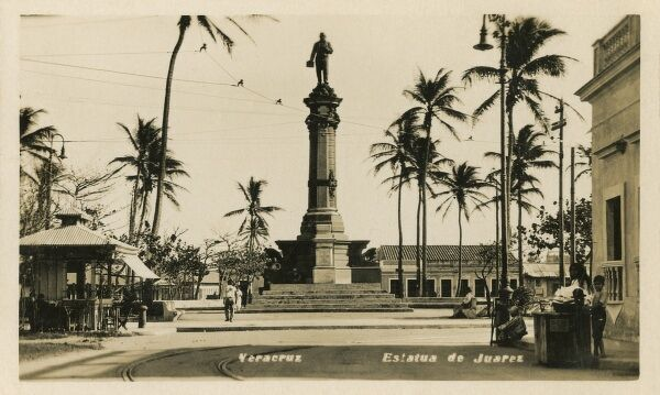 Statue of Benito Juarez in Veracruz, Mexico. Juarez was a Zapotec Indian who spent five full terms of President of Mexico