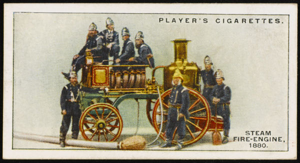 Canterbury's steam fire- engine, built be Messrs Merryweather & sons, of Greenwich