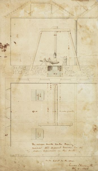 Steam hercules, plan and side elevation Date: 1846