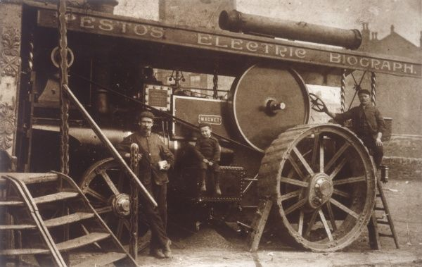 McLaren steam traction engine employed to both transport and power Testo's Electric Biograph Show