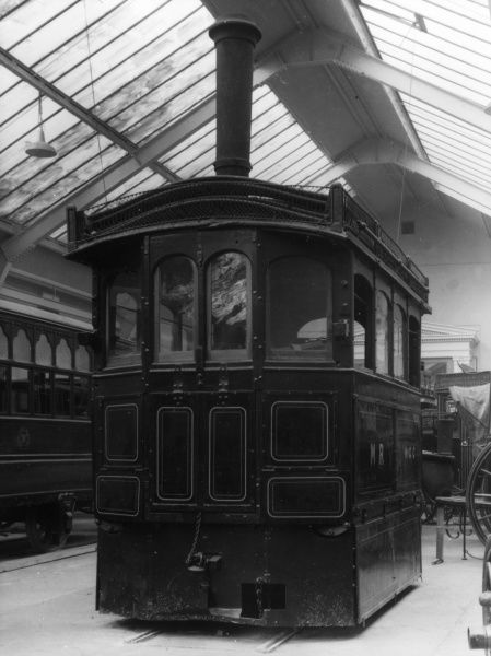 This splendid steam tram, made by Kitsons of Leeds, England, in 1882, was in service in Portstewart, Ireland, until 1925. Date: 1882