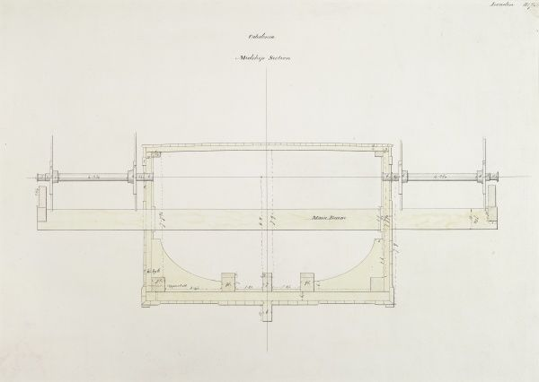 Steam yacht Caledonia's midship section, London Date: 1817