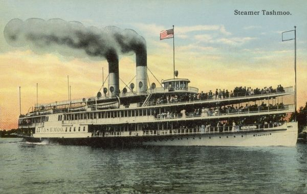 The US Mail Steamer Tashmoo, St. Clair River, Michigan, America