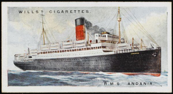Passenger liner of the Cunard line, sailing the Atlantic crossing