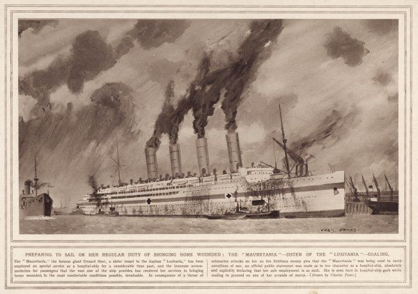 During World War one the Mauretania was converted from passenger liner to hospital ship