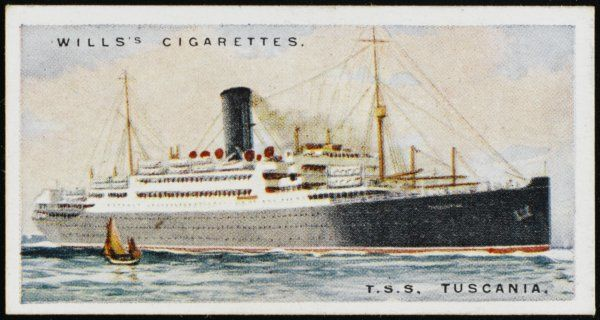 Anchor Line passenger ship saling between Glasgow and New York
