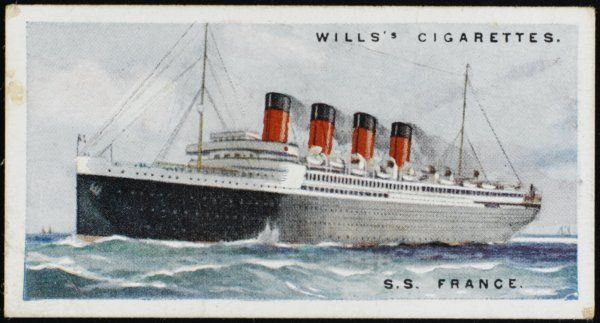 French transatlantic liner which offers its passengers drawing and music salons and a children's theatre