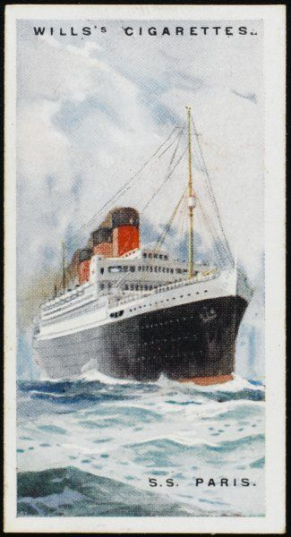 The largest French atlantic liner of her day, carrying 563 first class passengers, 480 second and 1092 third class, plus 1118 more in the steerage, and 664 crew