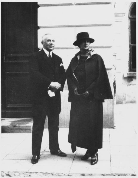 STEPHAN OSSOWIECKI Polish engineer and clairvoyant, photographed with his wife at the 1923 International Congress for Psychical Research at Warsaw